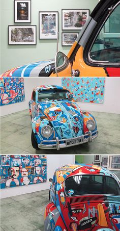Fusca pintado pelo artista argentino Tec
