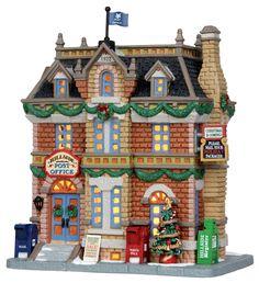 Lemax Hillside Post Office #25372 - Miniature Christmas Village Light Up Store - Caddington Collection