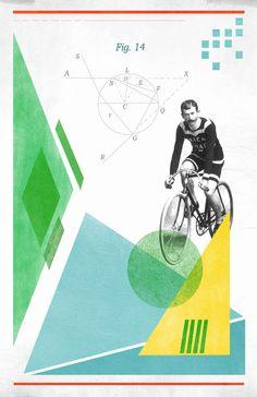 Bicycle No1 Collage Poster 11x17in von reconstructingideas auf Etsy, $20.00
