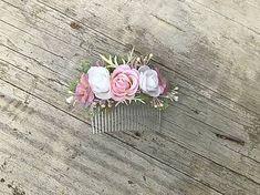 Hrebienok do vlasov na každú príležitosť, vyrobený z umelých kvetov Stud Earrings, Rose, Jewelry, Pink, Jewlery, Jewerly, Stud Earring, Schmuck, Jewels