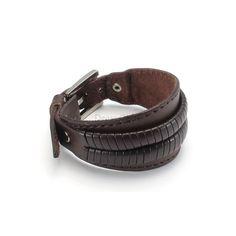 Кожаный мужской браслет 25201