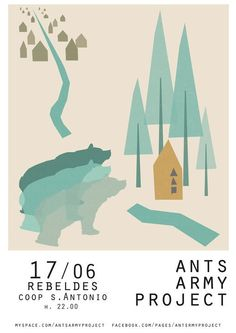 Ants Army Project gig poster