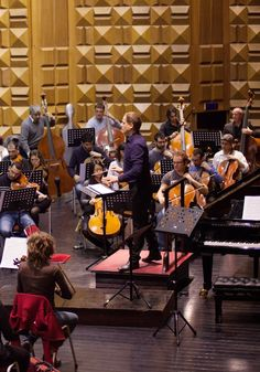 Matthias Manasi and the Orchestra Sinfonica di Roma in rehearsal. Rome, 2014, Photo: Alessandro Marchese