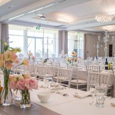 Fiona and Sofian's Wedding by Bloomingayles. Creative and artistic floral design and Sussex wedding florist, The George in Rye, East Sussex The George In Rye, Ballroom Wedding, Grand Staircase, Bridal Suite, Convention Centre, Modern Chandelier, South Australia, Floral Design, Table Settings
