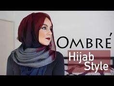 Ombre Hijab Tutorial Styles!  Aminachebbi - YouTube