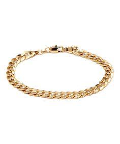 Gold Textured Curb Link Bracelet #zulily #zulilyfinds