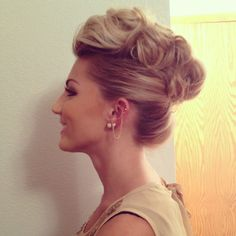 Wedding updo pompadour style