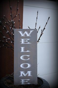 Welcome Outdoor Wood Signs, Home Decor, Decoration Home, Room Decor, Home Interior Design, Home Decoration, Interior Design