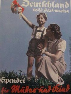 "Germany  WW2  ""Mother and child..."""