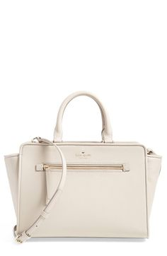 kate spade new york 'north court - coralline' pebbled leather satchel (Nordstrom Exclusive) available at #Nordstrom