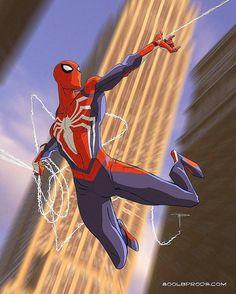 Spider-Man by Michael 'Gorilla' Pasquale : Spiderman Amazing Spiderman, Spiderman Kunst, Spiderman Drawing, Spiderman Costume, Spiderman Marvel, Marvel Art, Marvel Dc Comics, Marvel Heroes, Captain Marvel