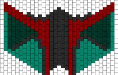 Boba Fett Mask bead pattern