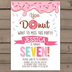 Donut Birthday Party Invitation doughnut Party Invitation