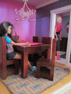 DIY Barbie house, doll house, Barbie furniture