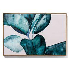 Mercer + Reid - Painterly Palm Print Fiddle Fig – Homewares Wall Art & Mirrors – Adairs online