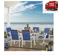 Outdoor Patio Dining Set Garden Metal Glass Furniture Swivel Chairs Modern Porch #OutdoorPatioDiningSet