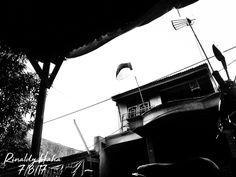 Black and white , Indonesian Flag . Bendera Hitam Putih .