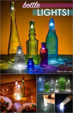 How to Transform a Glass Bottle into a Simple Decorative Lantern. Such a creative repurposing idea!