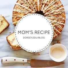 """The 2016 holiday season is upon us!  This year, we asked our chefs here at Dorsey Schools to share some of their favorite holiday recipes with us along with some of their tips.  Today, Chef Adamski is telling us how to make """"Mom's Coffeecake."""""""