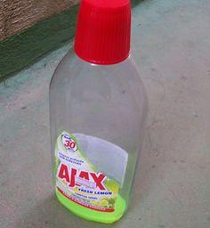Acrescente se desejar amoníaco e sabão em pó