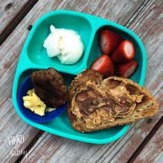 A simple meal because mom stayed out too late, but a special treat for our last day at the beach nonetheless.  Toddler breakfast: - yogurt - strawberries - scrambled egg & sausage patty - PB & Nutella toast  #Nutella #toasty #breakfast #toddler #toddlermeals #toddlerfood #kidfood #healthykids #beach #vacation #replayrecycled #replaymeals @replayrecycled #instafood #instagood #feedfeed #f52grams #buzzfeedfood #simple #easy #quickfix #treatyoself