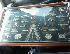 Sailing and nautical knots framed artwork.