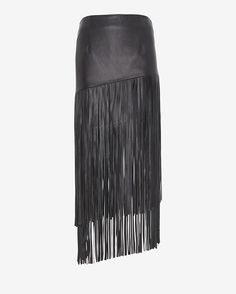 Exclusive for Intermix Leather Fringe Skirt on shopstyle.com