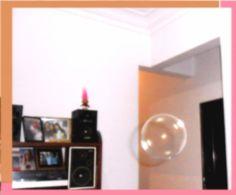 Bolhas que invadiram ninha casa, na verdade, bolhas de sabão, após uma aula de fiisica.