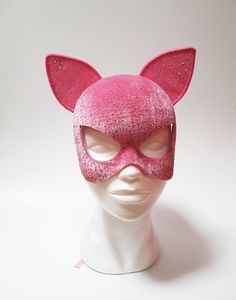 Festival Accessories, Hair Accessories, Pink Panther Costume, Halloween 2019, Halloween Costumes, Catwoman Mask, Doja Cat, Cats, Cat Mask