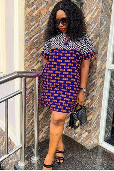 Beautiful Ankara Styles For Weekend Run-Around - Stylish Naija Ankara Short Flare Gowns, Ankara Short Gown Styles, Short Gowns, African Maxi Dresses, African Attire, African Print Fashion, Africa Fashion, African Style, African Art
