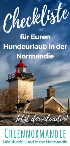 Ich packe meinen Koffer und nehme mit ... hier erfahrt Ihr, was in Euer Gepäck gehört, wenn Ihr mit Hund Urlaub in der Normandie macht. Mit Liste zum downloaden. #Normandie || #Normandy || #Cotentin || #Urlaub mit #Hund || #UrlaubmitHund || #Hundeurlaub || #Checkliste || #Reisen || #Frankreich || #France || #Hunde || #WandernmitHund