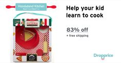 Help me drop the price of the Handstand Kitchen Pizza Making Set to $4.99 (83% off). Handstand Kitchen is the perfect place for kids to learn to love food, through a hands-on cooking experience. Handstand Kitchen provides children their own domain in the kitchen that empowers them to eat healthy and delicious foods.