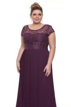 Plus size long empire waist evening dress with short flutter sleeves Vestidos Plus Size, Plus Size Dresses, Plus Size Outfits, Short Dresses, Bridesmaid Dresses, Prom Dresses, Formal Dresses, Wedding Dresses, Slimming World