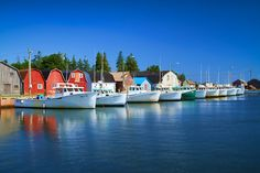 The fishing village in Malpeque, Prince Edward Island, is quaint, charming and colourful.