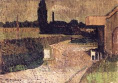 City and Country , by Charles Angrand - Cd Paintings Post Impressionism, Impressionist, Fauvism, Pointillism, French Art, Country, City, Houses, Paintings