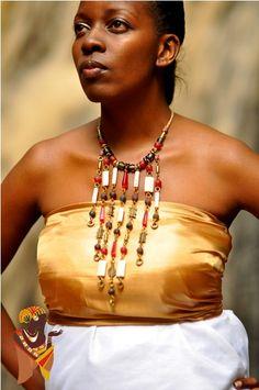 African  Handmade Leather JewelryElegant Red Statement by Lukagwa, $125.00