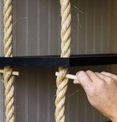 rope shelf how to                                                                                                                                                                                 More