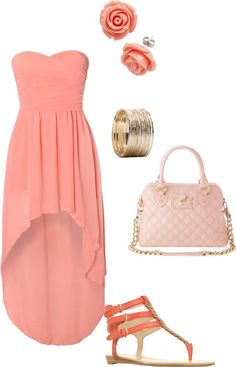 """Spring coral outfit"" by liandivw7 on Polyvore"