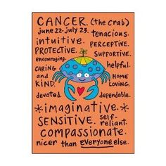 Cancer zodiac sign (positive traits)