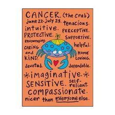 Cancer zodiac sign (positive traits)
