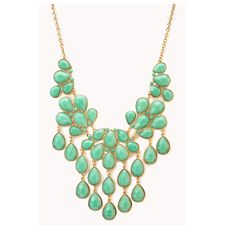 Teardrop Bib Necklace: every purchase through this link supports charity, for free!