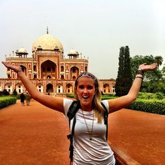 Behind me my friends, is Humayun's tomb in Delhi #India. Can this get any more spectacular?? #metowetrips #travel #India
