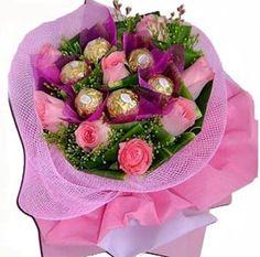 Flowers & Chocolate  Bouquet 03