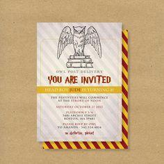 Printable Birthday Invitation // HARRY POTTER WIZARD by HENANDCO, $16.00
