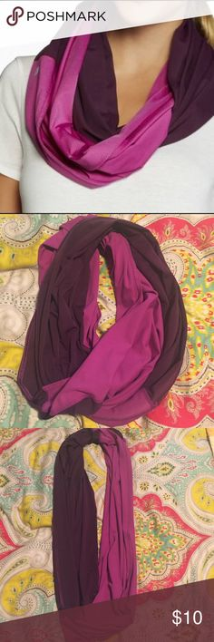 Fabletics Plum/Purple Infinity Scarf Two-tone Fabletics infinity scarf. Worn once and tag removed. Made of 89% polyester and 11% spandex. Fabletics Accessories Scarves & Wraps
