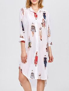 SHARE & Get it FREE | Cartoon Print Pleated Shirt DressFor Fashion Lovers only:80,000+ Items • New Arrivals Daily Join Zaful: Get YOUR $50 NOW!