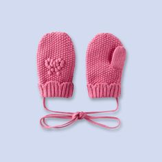 Moufles en tricot pour bébé, fille