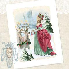 Marie Antoinette The Royal Christmas Gift Giclee Print......shop Paper Nosh Etsy  www.PaperNosh.com