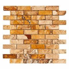 Scabas Mosaic Travertine #Tile