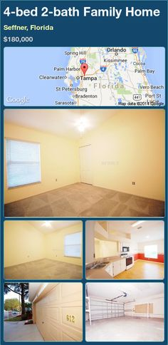 4-bed 2-bath Family Home in Seffner, Florida ►$180,000 #PropertyForSale #RealEstate #Florida http://florida-magic.com/properties/86302-family-home-for-sale-in-seffner-florida-with-4-bedroom-2-bathroom